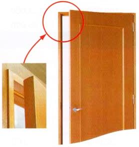 建物やドア枠が変形しても開閉自在な「あんしんドア」の図